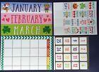Classroom Calendar Set Monthly Bulletin Board Teaching School Supplies NEW