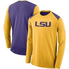 Nike LSU Tigers Gold 2017-2018 Elite Basketball Performance Long Sleeve Shooter