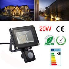 1X 20W PIR Motion Sensor SMD LED Flood Light IP65 Outdoor Garden Lamp Warm White