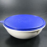 Vintage Tupperware Fix N Mix Bowl #274 Speckled white granite with Blue Lid Seal
