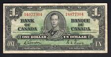 New listing Canada P-58b. 1937 1 Dollar. Gordon/Towers. Prefix H/A. aVf