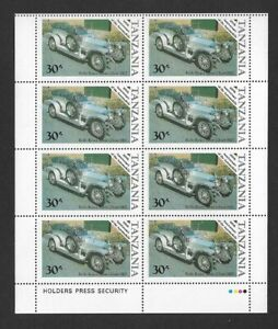 1986 Tanzania -  Centenary of Motoring - Block of Eight - Unmounted Mint.