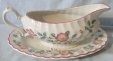 Churchill Briar Rose Gravy Sauce Boat with Under Plate
