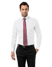 Unifarbene klassische Herrenhemden mit Kombimanschette-Schlanke-Größen