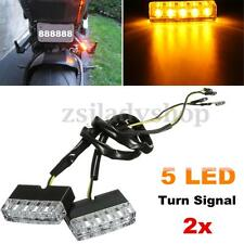 2x Universal Motorcycle Bike LED Turn Signal Indicator Lights Lamp Blinker Amber