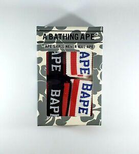 BAPE Quarter Crew Socks - 4 Pack - A Bathing Ape - One Size - New in Box