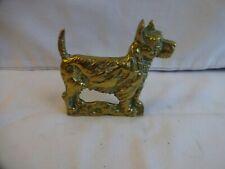 More details for vintage cast brass scottish terrier dog figurine height 9 cm x 9.5 cm