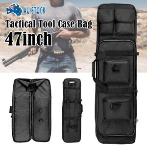 120CM Tactical Military Dual Gun Rifle Carry Case Backpack Bag Hunting Shooting