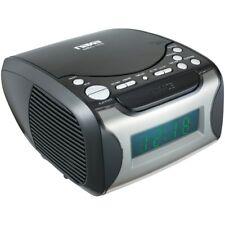Digital Alarm Clock Tuning AM FM Radio CD Player Desktop LED Display Snooze New