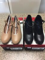 """Character shoes 1"""" and 2"""" heels by Capezio Youth sizes for stage, RAD, ballroom"""