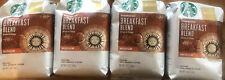 Starbucks Breakfast Blend Medium Ground 100% Coffee 12 oz X 4 BB 3/2020