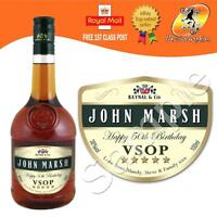 PERSONALISED FRENCH BRANDY VSOP BOTTLE LABEL BIRTHDAY ANY OCCASION GIFT