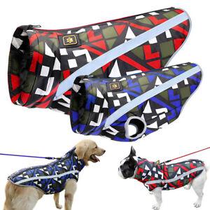 Dog Jacket Waterproof Warm Dog Raincoat Reflective Coat for Small to Large Dogs