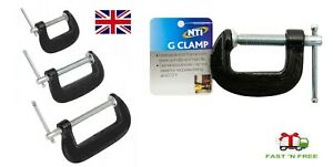 HEAVY DUTY BLACK IRON G Clamp Iron Clamps Wood Working Welding Support Tool set