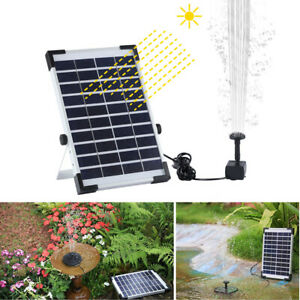 Solar Energy Floating Fountain Water Pump for Garden Pond Pool Fish Tank PVC