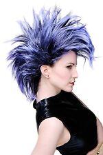 Wig Carnival Punk Glam Vamp Teased Black Blue-Violet