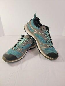 Keen Terradora Waterproof Hiking Shoes Womens Size 9.5 Blue/Green Style 1017190