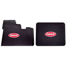 Peterbilt Motors Logo Rubber Semi Truck Front Set Floor Mats 2004 & Older Models