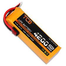 14.8V 4 Cells 4200mAh 25C LiPO Battery deans ultra T-plug Burst 40C RC Lipolymer