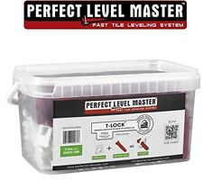 "1/8"" T-Lock Tile Leveling System KIT- floor , wall Perfect Level Master spacers"
