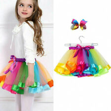For Cute Kids Girls Rainbow Tutu Skirt Tulle Fluffy Princess Dance Dress Party
