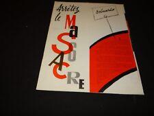ARRETEZ LE MASSACRE jean richard   scenario dossier presse cinema 1959