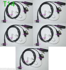 5x Surveillance Translucent Tube Headset Earphone Earpiece for Motorola Radio