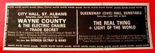 "Wayne County &The Electric Chairs Gig Vintage ORIG '79 Press/Mag ADVERT 4.5""x1.5"