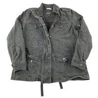 Levis San Francisco Jacket Womens Medium Green Cargo Utility Style 100% Cotton