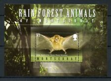 Montserrat 2009 MNH Rain Forest Animals 1v S/S Bats Wild Animals Stamps