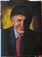 Donald Trump Oil on Canvas 40x30 painting President Original gallery pop art