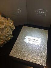 LUXURY WEDDING PLANNER BOOK & ORGANIZER SPARKLING SILVER -ENGAGEMENT new in box