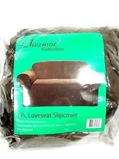 Green Living Group Chezmoi Collection Soft Micro Suede Solid Chocolate Loveseat
