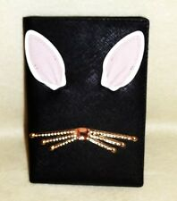 New kate spade Imogen Rabbit Leather Passport Holder Wallet Cover WRLU3199