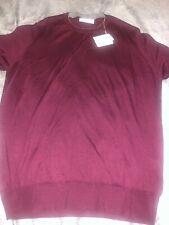 Brunello Cucinelli Mens Burgundy Cashmere Sweater Size 54 NWT $1950