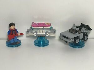 Lego Dimensions Back to The Future McFly DeLorean Hoverboard 71201 Level Pack