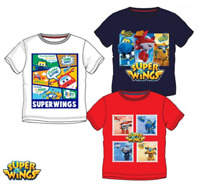 Boys Kids Official Licensed Super Wings Short Sleeve T Tee Shirt Top