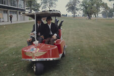 George Harrison Ringo Starr in golf cart 1964 Indianapolis State Fair 35mm slide