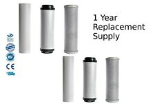 """Koi Ponds & Dechlorinator HMA 10"""" Water Filter System 1 Year Supply Replacements"""