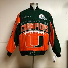 University of Miami Hurricanes 5-Time Football Championship Jacket