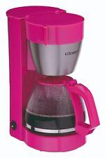 Cloer Kaffeemaschine 5017-1 pink Edelstahl 10 Tassen Glaskanne NEU (B-Ware)