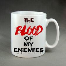 Blood of My Enemies Horror Halloween Mug Present Gift Scary Funny Vampire Devil