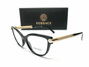 Versace VE3270QA 5299 Black Demo Lens Women Eyeglasses Frame 54 mm