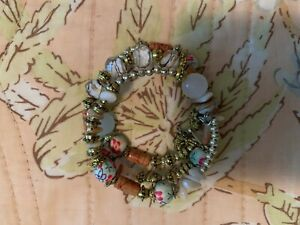 NWT Novadab Bracelet Wrap Multicolor Boho Multipatterned Artisan Fashion Jewelry
