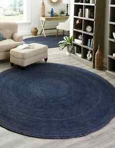 Rug 100% Natural braided jute modern living rustic look area carpet outdoor rugs