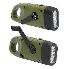 2 In 1 LED Flashlight Tent Light Hand Crank Dynamo Solar Power Torch Lantern