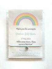 Baby Shower Favour, Friendship wish bracelet, girl,boy, Rainbow baby shower gift