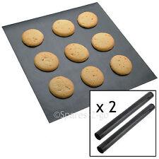 2 x UNIVERSAL Teflon Coated Non Stick Extra Large Baking Oven Sheet Mat Liner