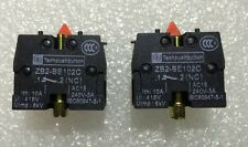 2Pcs Contact Block For Pushbutton Switches NC Normally Closed Tele Type 10a 400v