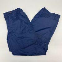 Nike Windbreaker Pants Men's Size XL Navy Drawstring Knee Vent Nylon Polyester